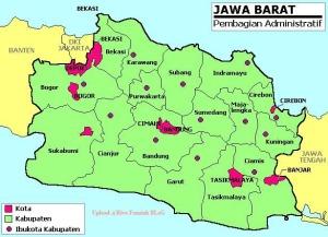 Peta Administratif Jawa Barat