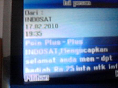 SMS Pemenang Poin  Plus-Plus Indosat1