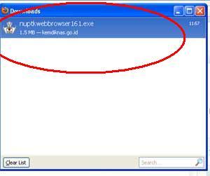 download NUPTK BROWSER
